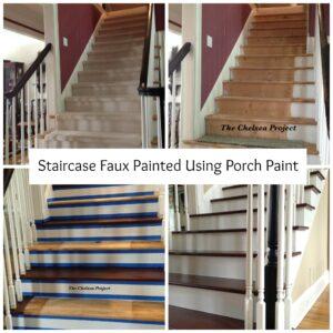 StaircaseFauxPaintedCollage
