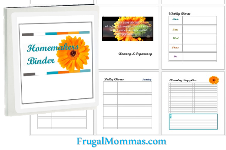 Homemakers Binder & home planner pages