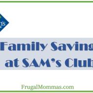 Saving Money at SAMs Club