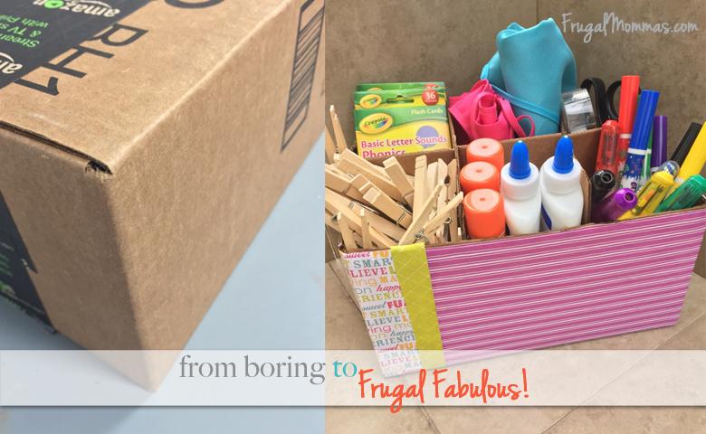 Turn A Box Into A Storage Caddy