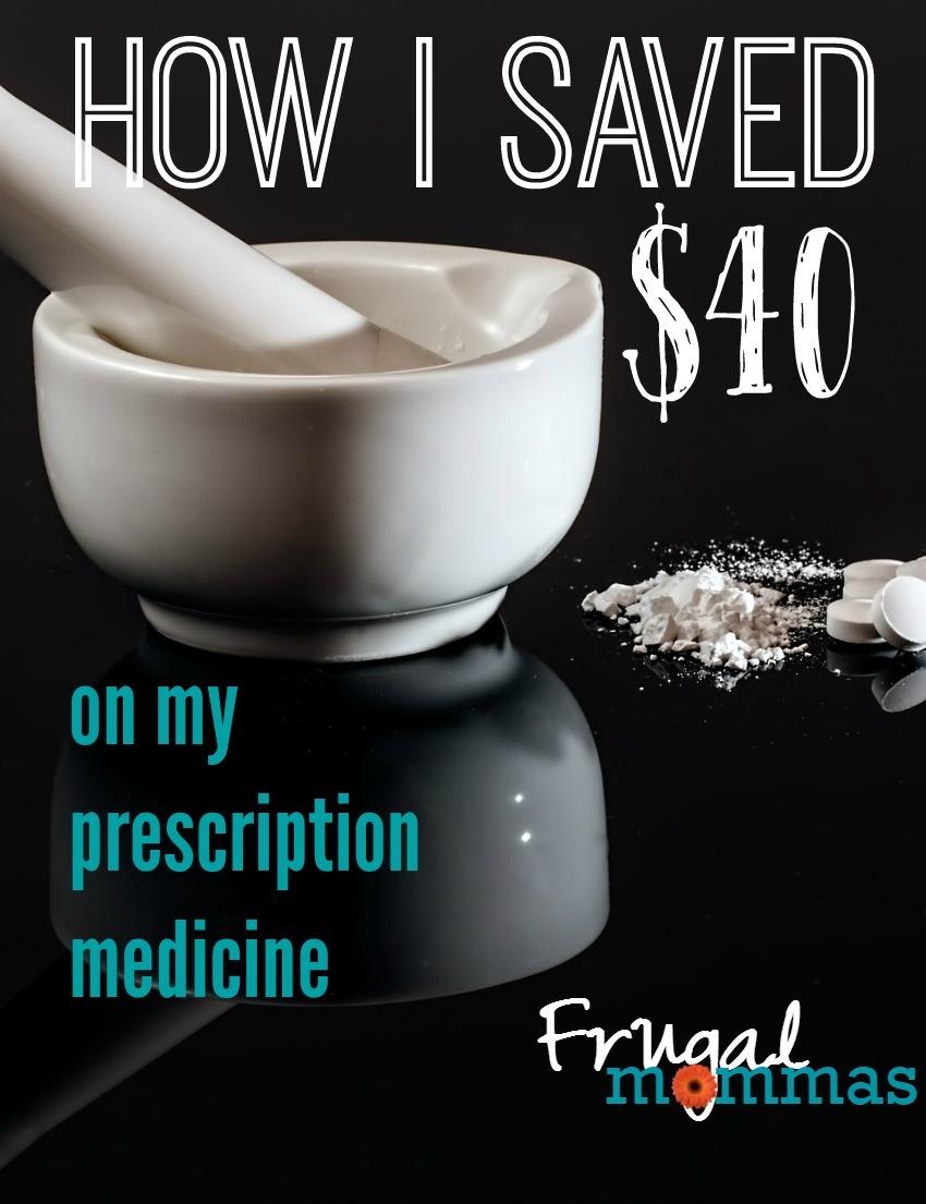 how i saved $40 on prescription medicine