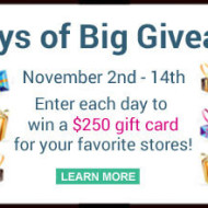 12 Days of Big Giveaways – from Favorite Stores