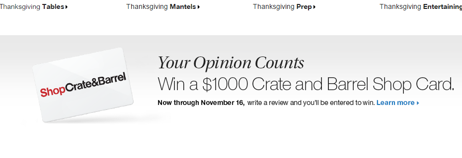 Crate and Barrel - Black Friday Deals and Coupons