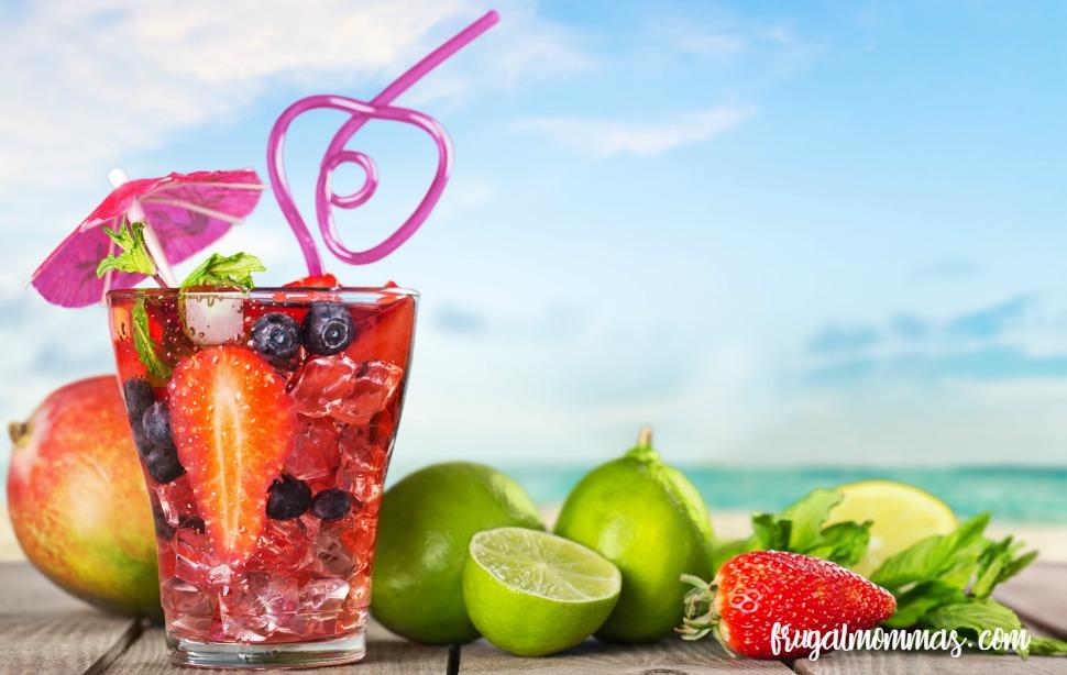 raspberry limeade essential oils drink