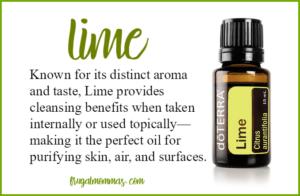 raspberry lime essential oils drink