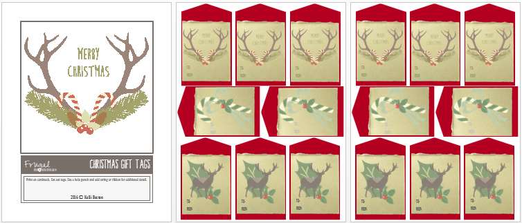 Christmas bundle giveaway - free gift tags