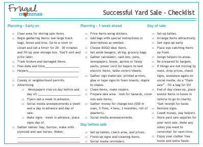 How to plan a successful yard sale