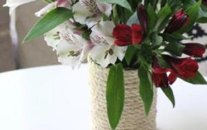 sisal rope vase tutorial