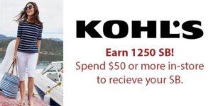 Kohls Savings Earn Gift Card Points with Swagbucks