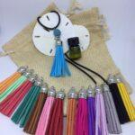 Essential Oils Diffuser Lava Tassel Necklace