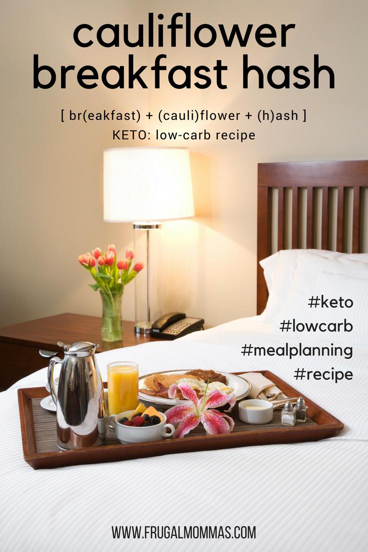 Keto Cauliflower Breakfast Hash