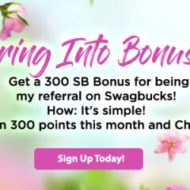 April Gift Card Rewards with Swagbucks for Spring