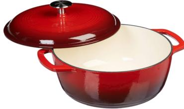 Enameled Cast Iron Dutch Oven – 6-Quart, Red
